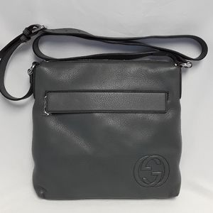 New GUCCI 322059 Leather messenger bag